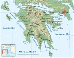 Mapo de Peloponezo