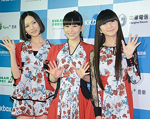Perfume (Japanese band) - Perfume at the KKBOX Music Awards on 22 February 2014 in Taiwan.