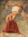 """Peter Paul Rubens (1577-1640) (style de) - Une main tenant un sac à main vide, l'emblème de, """"Aucune souffrance ne peut se comparer"""" (avec celle du dépensier en faillite) - 1298194 - National Trust.jpg"""