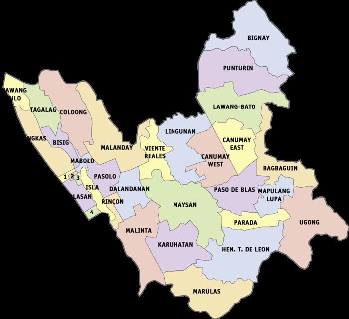 Valenzuela Philippines Map Political Map of Valenzuela
