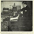 Photograph of patient skiographed with the apparatus necessary, extracted from Report on the application of the new photography to medicine and surgery (1896).jpg