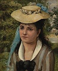 Lise in a Straw Hat (Jeune fille au chapeau de paille)