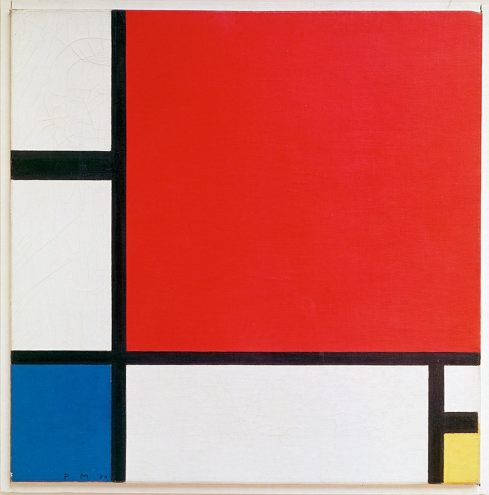 Piet Mondriaan, 1930 - Mondrian Composition II in Red, Blue, and Yellow