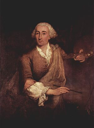 Francesco Guardi portrayed by Roberto Longhi (1764).