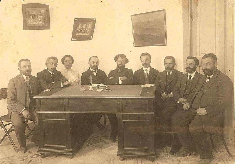 חברי הועד המפקח של בית הספר לבנות