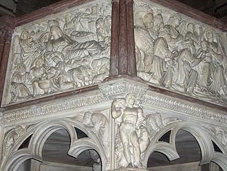 """Duecento - """"Pulpito del Battistero di Pisa"""", of Nicola Pisano."""