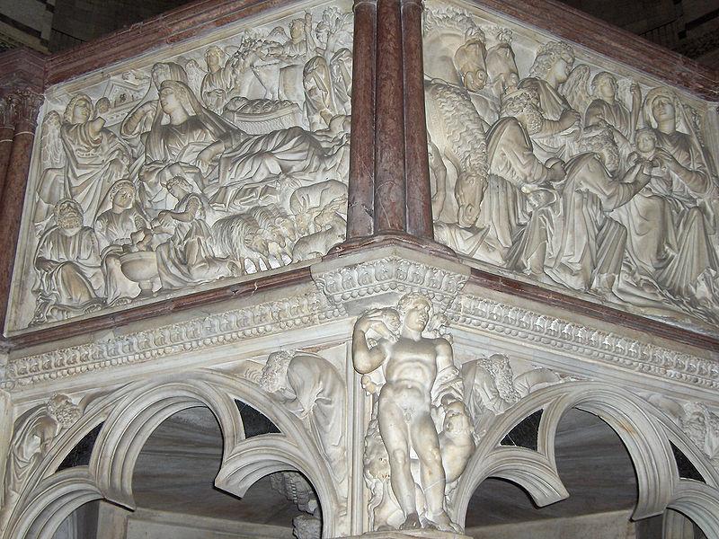 Nicola Pisano 800px-Pisa.Baptistery.pulpit02