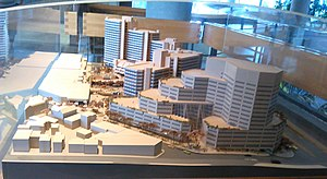 Place du Portage - The Place du Portage model on display in the main lobby 2014