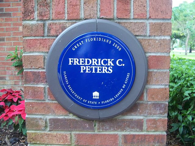 Photo of Frederick C. Peters blue plaque