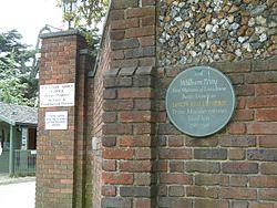 Photo of William Petty stone plaque