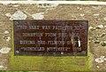 Plaque on churchyard seat, Sutton Mallet (geograph 4455736).jpg
