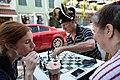 Playing Chess on French Quarter Sidewalk October 2014.jpg