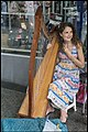 Playing Harp in Brisbane Queens St Mall-1 (25223512780).jpg