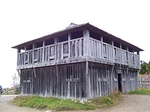 Harlow Old Fort House - Image: Plimoth Plantation fort and meeting house