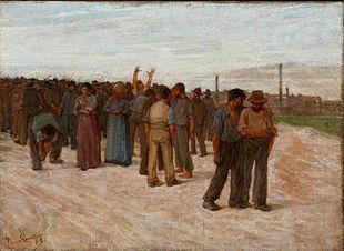 (Plinio Nomellini): Sciopero Londinese (1889)