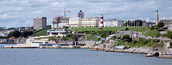 Plymouth Hoe from Mount Batten (crop).jpg