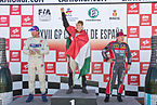 Podio Benedek Major, René Reinert, Markus Bösiger - GP Camión de España 2013 - 01.jpg