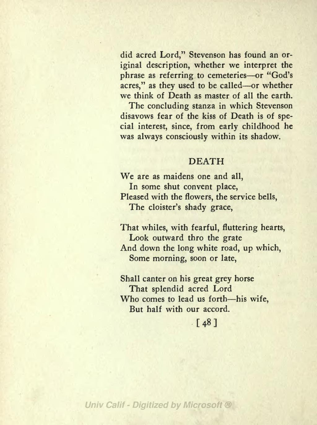 concluding stanza of a poem