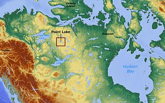 Point Lake - Image: Point Lake Northwest Territories Canada locator 01