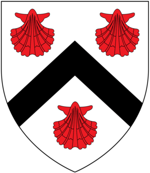 Sir Hugh Pollard, 2nd Baronet - Image: Pollard Escallop Arms