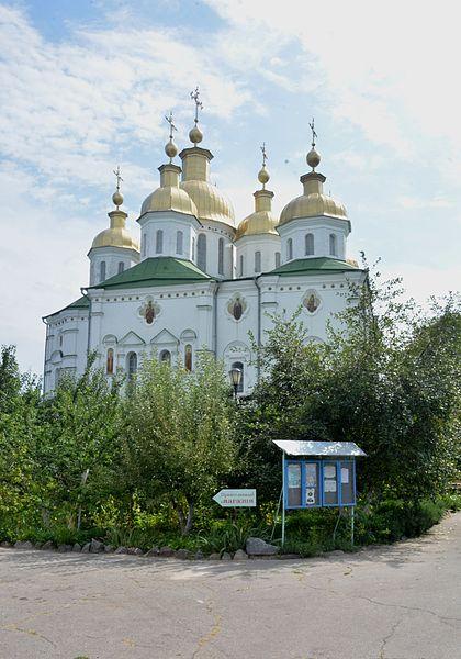 File:Poltava Velychkovskoho (Sverdlova) Str. Monastery of Exaltation of the Holy Cross Cathedral 02 (YDS 7416).jpg