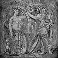 Pompejanisches Gemälde mit einer Trophäe, der Göttin Viktoria und einem römischen Soldaten.jpg