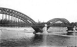 Français : Lyon : le pont de la Boucle