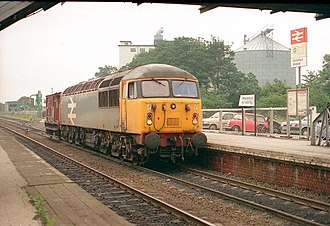 Pontefract Monkhill railway station - The station in 1987.