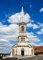 Porche et clocher de l'église de Fuans.jpg