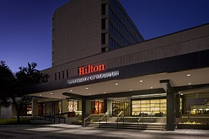 Hilton College of Hotel and Restaurant Management - Image: Porte Cochere 2