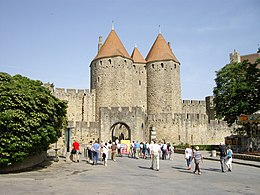 Carcassonne stad wikipedia for Porte narbonnaise