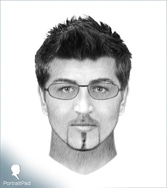 Facial composite - A facial composite produced by PortraitPad software