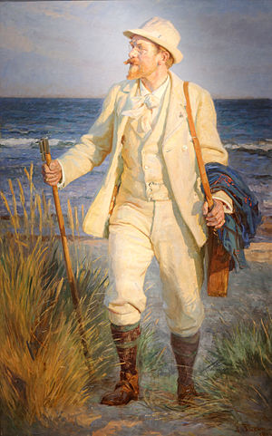 Peder Severin Krøyer - Portrait of Peder Severin Krøyer by Laurits Tuxen