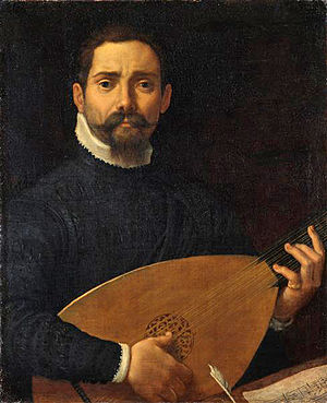 Portrait of an Actor - Image: Portrait of a Lute Player by Annibale Carracci Staatliche Kunstsammlung Dresden