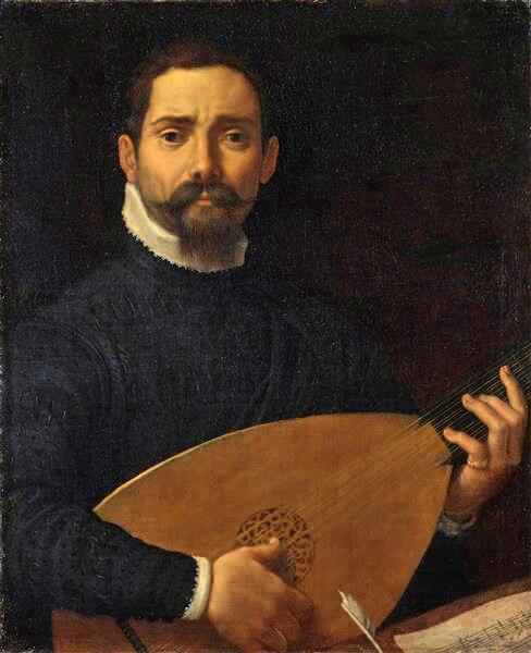 Portrait of a Lute Player by Annibale Carracci - Staatliche Kunstsammlung Dresden