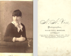 Portrait of young woman by N A Voss of Hays City Kansas USA.png