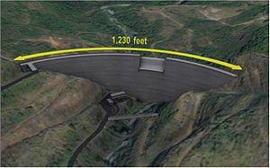 Portugués River - Artistic rendering of Portugues Dam