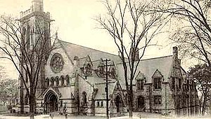Ansonia, Connecticut - Image: Postcard Ansonia CT Christ Church 1908