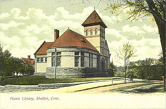 Shelton, Connecticut - Plumb Library, about 1905