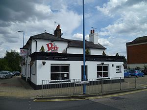The Lion, Potters Bar - Potty Pancakes, formerly The Lion public house.