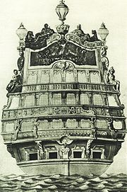 The transom of the Soleil Royal, by Jean Bérain the Elder.