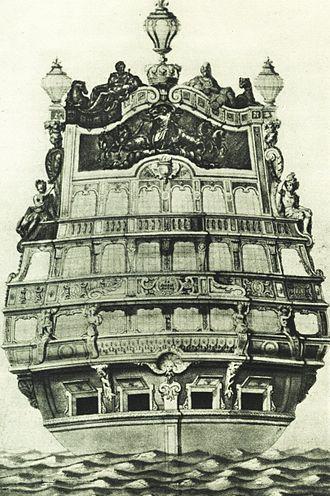 French ship Soleil Royal (1670) - Image: Poupe soleil royal berain
