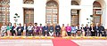 Pranab Mukherjee, the Vice President and Chairman, Rajya Sabha, Shri Mohd. Hamid Ansari, the Speaker, Lok Sabha, Smt. Meira Kumar and the President of the Inter Parliamentary Union (IPU).jpg