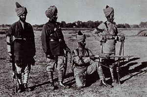 Puttee - Image: Pre 1900 Indian soldiers