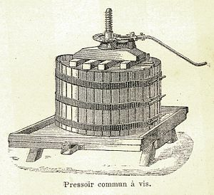 Pressing (wine) - First developed in the Middle Ages, basket presses have a long history of use in winemaking.