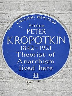Photo of Peter Kropotkin blue plaque