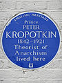 Prince PETER KROPOTKIN 1842-1921 Theorist of Anarchism lived here.jpg