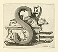 Print, Etching. Figural letter. Capital S., ca. 1770 (CH 18553881).jpg