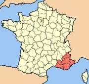 Provence-Alpes-Côte d'Azur map