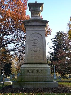 Mountain Grove Cemetery, Bridgeport - P. T. Barnum's gravestone at Mountain Grove